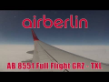 Air Berlin 737 AB 8551 Graz – Berlin Tegel | Full Flight