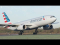 Smoothest Plane Landing Ever? American Airlines A330 at Manchester Airport
