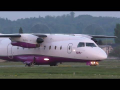 Tyrol Air Ambulance Dornier 328 close-up takeoff at Graz Airport | OE-GBB