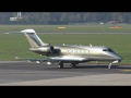 LaudaMotion Bombardier Challenger 300 takeoff at Graz Airport | OE-HII