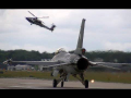 RNLAF F-16 Demo Team – Full Afterburner Airshow