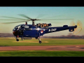 Low pass Royal Blue Bird A-247 Alouette III Teuge