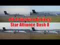 All 4 Austrian Airlines Dash 8 in Star Alliance livery