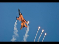 RNLAF F16 demo lots of flares Texel Airshow – HD video