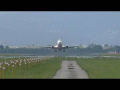 AirExplore Boeing 737 head-on takeoff at Graz Airport | OM-HEX
