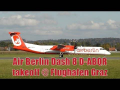 Air Berlin brand new Dash 8-402 D-ABQR takeoff at Graz Airport