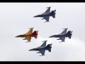 Special F16 Tiger Formation Display Sanicole Airshow 2016