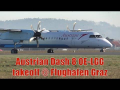 Austrian Airlines Dash 8-402 OE-LGG close-up takeoff at Graz Airport
