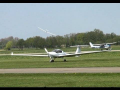 Engine failure forced landing glider Teuge Airport