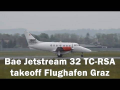 Red Star Bae Jetstream 32 rainy takeoff Flughafen Graz | TC-RSA
