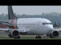Titan Airways Boeing 737 close-up takeoff at Graz Airport | G-ZAPW