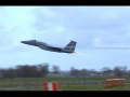 US F15 Eagle low pass Afterburner takeoff Netherlands