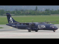 Astra Airlines ATR 72 landing at Graz Airport | SX-DIP