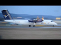 InterSky Dash 8 evening takeoff Flughafen Graz | OE-LIC