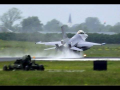 3x Dutch F16 Wet Runway Spray landing – Leeuwarden Air Base