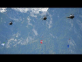 Austrian Air Force Alouette 3 ship flag formation |  50 years Alouette Airfest L