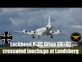 Lockheed P-3C Orion crosswind touch and go