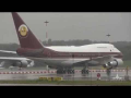 B747-SP Screaming Wet Take-Off