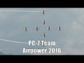 Airpower 2016 | PC 7 Team display | Swiss Air Force Aerobatics team