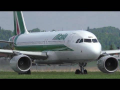 Alitalia Airbus 320 close-up takeoff at Graz Airport | EI-DSC
