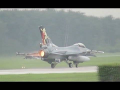 Full Afterburner morning wave take off 8x F-16 Volkel 2013