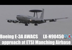 Beoing E-3A Sentry NATO-AWACS LX-N90450 approach at Manching