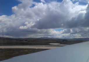 Take off from Mount Pleasant airfield – Falklands
