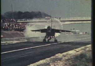 Jaguar Fighter Jet lands on M55 Motorway near Blackpool, Lancashire