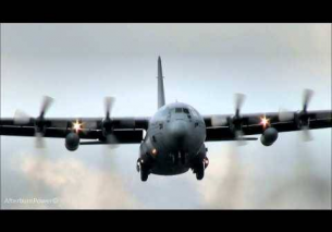 Low Airfield attack landing Hercules Cerberus Guard Exercise EHTW 2013