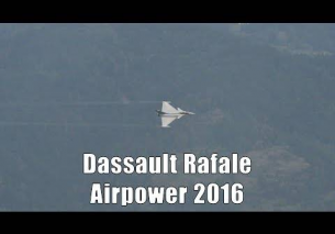 Airpower 2016 | Dassault Rafale display | French Air Force