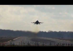 Attack mode low takeoff RNLAF F16 EHEH 2012