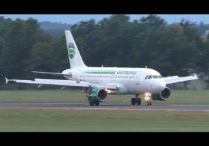 Germania Airbus 319 landing at Graz Airport | D-ASTZ
