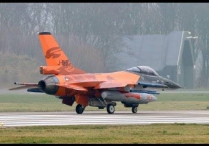 Take off 5x F16 Leeuwarden Airbase