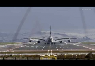Airbus A380 Landing at Manchester UK