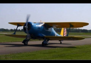 Low pass Beech D-17S Staggerwing 2013