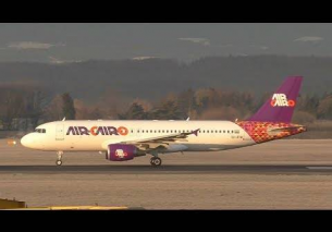 BEAUTIFUL Air Cairo Airbus 320 *new livery* arrival