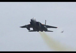 8x USAF ANG High-wing F15 Eagle Takeoff