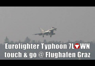 Austrian Air Force Eurofighter Typhoon touch and go @ Flughafen Graz | 7L-WN