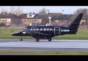 Back in Black! BAE Jetstream G-BWWW Flying test bed