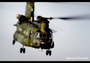 Chinook RNLAF low fly by Airbase Deelen