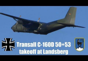 Transall C-160D close up takeoff
