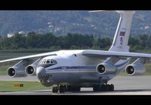 Russian Air Force Ilyushin IL-76MD landing at Graz Airport | RA-78818