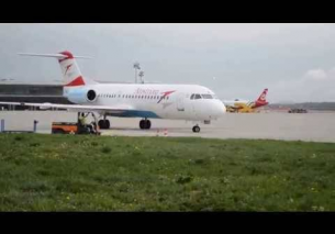 Flughafen Graz | Austrian Airlines F70 OE-LFQ OS 203 Engine start and taxiing
