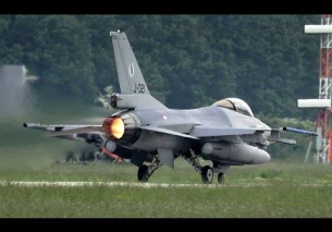 Video: Afterburner Thursday! 4x F-16 Leeuwarden Air Base at AirClips