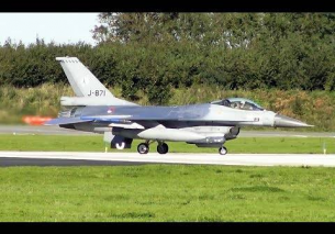 5x Dutch F-16 AFTERBURNER Take Off – Leeuwarden AB