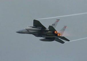 6x USAF ANG F-15 Full Afterburner Frisian Flag 2016