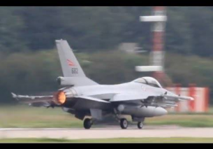 Massive F-16 launch Nato exercise EHLW