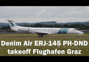 Denim Air Embraer 145 takeoff Flughafen Graz | PH-DND