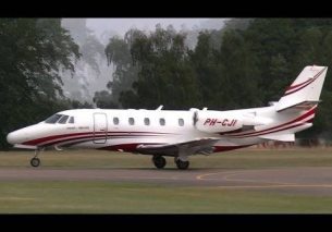 Close Up Take Off PH-CJI Cessna 560XL Citation Excel – TEUGE AIRPORT