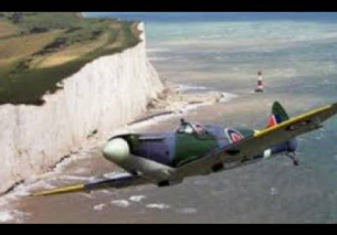 ROARING Spitfire Flypast Blackpool Armed Forces  TURN UP THE VOLUME